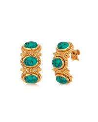 turquoise earrings studs earrings studs earrings gold plated turquoise stud earrings