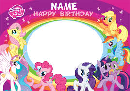 Mlp Birthday Card My Little Pony Clipart Group Pencil And In Color My Little Pony