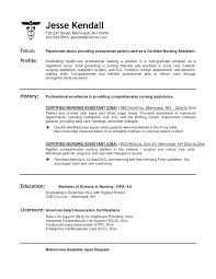 cna resumes exles resume for cna position resume with experience objective for resume