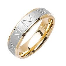 the numbers wedding band 14k two tone gold numbers women s comfort fit wedding