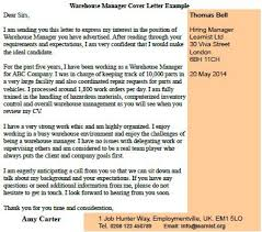 warehouse manager cover letter example forums learnist org