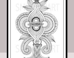 coloring pages henna art henna art etsy studio