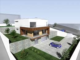 house project architecture single family house in a slope lousada portugal