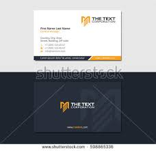 Construction Name Card Design Business Card Engineering Construction Letter M Stock Vector
