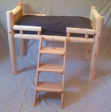 Elevated Dog Beds For Large Dogs Luxury Log Dog Beds And Other Log Furniture Custom Crafted Pet