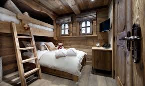 chalet designs modern rustic wooden chalet bedroom interior with loft bed and