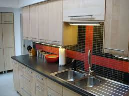 plain astonishing red subway tile backsplash red glass tile