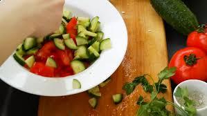 salad glass plate kitchen cabbage tomato onion greens