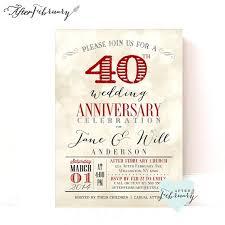 hochzeitstage jubil um 40 jubiläum einladung rubin rot hochzeitstag licht bokeh