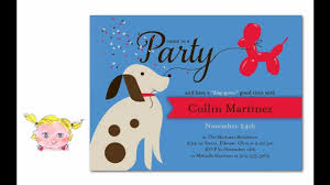 cute birthday invitations cutest puppy birthday party invitations for dogs u0026 dog lovers