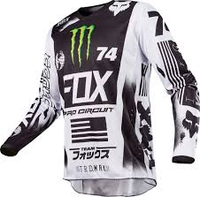 youth fox motocross gear fox racing 2017 180 se pro circuit monster jersey white black