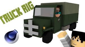 minecraft truck truck rig minecraft cinema 4d youtube