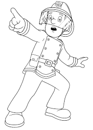 a firefighter was surprised coloring pages for kids cg2