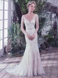 lace wedding gowns lace wedding dress with sheer lace sleeves maggie maggie