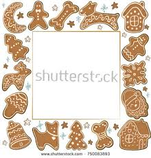 christmas cookies gingerbread forming heart shaped stock vector