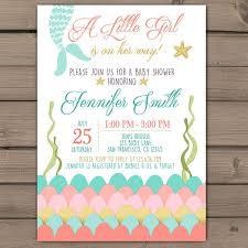 mermaid baby shower ideas mermaid baby shower invitations party xyz