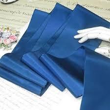 taffeta ribbon 1y vtg blue 4 taffeta ribbon trim millinery hat cocarde