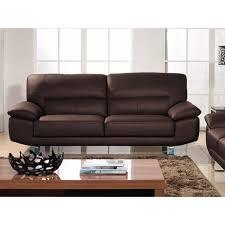 canapé en cuir marron canapé 2 places en cuir marron achat vente canapé sofa