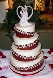 Winter Wedding Cakes Burgundy White Round Winter Wedding Cakes Photos U0026 Pictures
