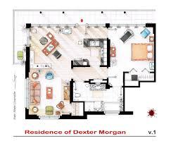 Scale Floor Plan by Floorplan Of Dexter Morgan U0027s Apartment V 1 By Nikneuk On Deviantart