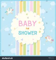 Babyshower Invitation Cards Baby Shower Invitation Card Newborn Design Stock Vector 627677591
