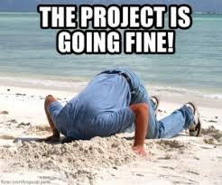 Project Management Meme - of course the project is fine pmlife pm humor pinterest humour