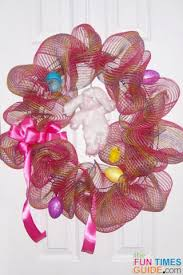 geo mesh wreath how to make a deco mesh wreath to hang on your door ideas for