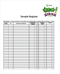Check Register Template Excel Sle Check Register Template 10 Free Sle Exle Format