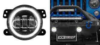 led lights for jeep wrangler jk 4in jeep wrangler jk led fog light kit with switchback halo white