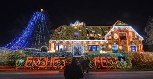 house with christmas lights to music best christmas house decoration with music youtube