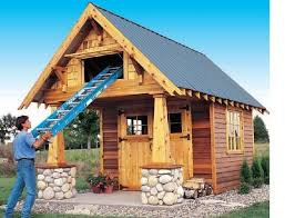 Backyard Guest House Plans by 10 X 10 Playhouse Building Plans Shed Guest House Backyard