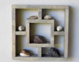 Rustic Wood Bookshelves by Geometric Shelf Etsy