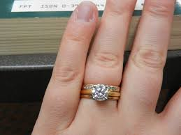 how to wear wedding ring set how to wear wedding ring set show me your complete ring set