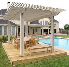 incredible covered pergola ideas with stone pillar near of outdoor