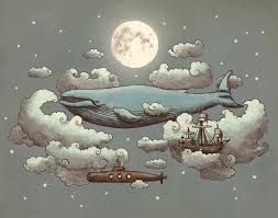 terry fan the whale art print beautifully detailed illustrations by terry fan