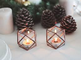 candles gift glass geometric candle