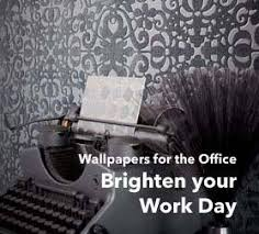 our stylish and motivating office wallpaper will liven up your office