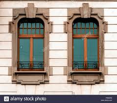 beautiful modern architectural style windows old house in