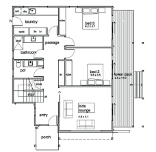 Scale Floor Plan Modern Style House Plan 3 Beds 2 50 Baths 2282 Sq Ft Plan 496 21