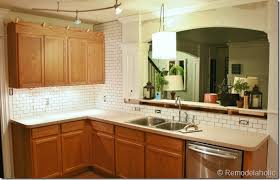 remodelaholic white subway tile back splash tutorial