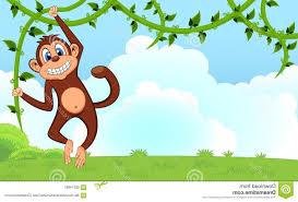 best free monkey swinging vines cartoon garden your design