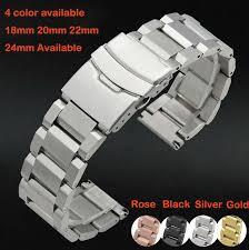 solid stainless steel bracelet images 2015 watch band 18mm 20mm 22mm 24mm new mens silver heavy solid jpg