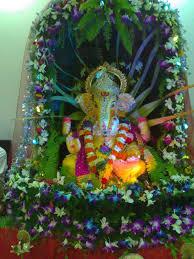 Home Ganpati Decoration Ganpati Bappa More Ya Mann Ki Window
