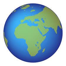 africa map emoji earth globe europe africa emoji for email sms id