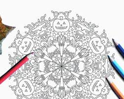 mandala coloring halloween party activity coloring pages