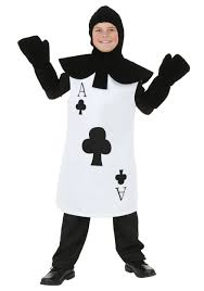 alice wonderland halloween costumes kids ace of clubs costume