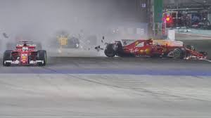 formula 4 crash f1 singapore gp results vettel in terrible crash video