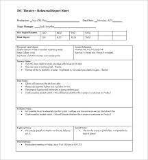 rehearsal report template rehearsal report template 8 rehearsal report template expense