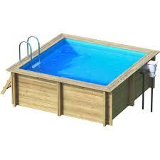 piscine hors sol bois weva carrée proswell