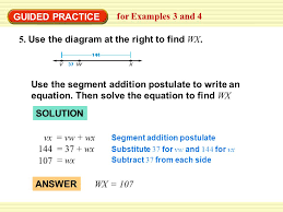 example 3 find a length use the diagram to find gh use the